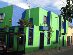 Green blue house