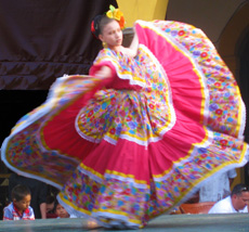Folkloric dancer